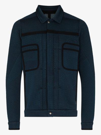Blue D-Type Front Pocket Jacket