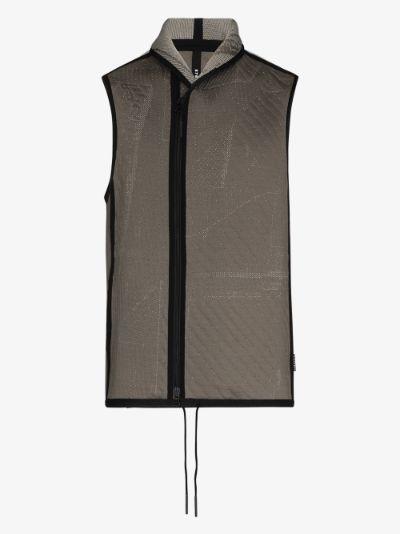 Grey C-Vest zip-up gilet