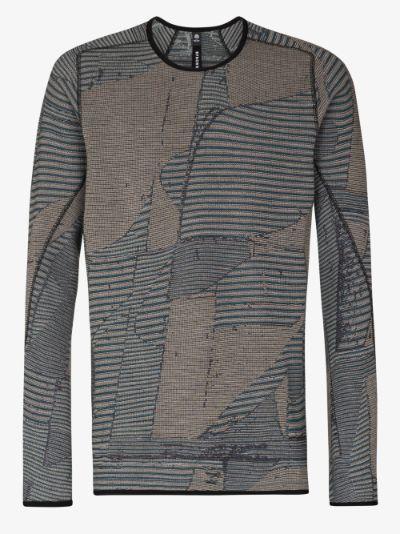 Grey Waffle Long Sleeve T-Shirt