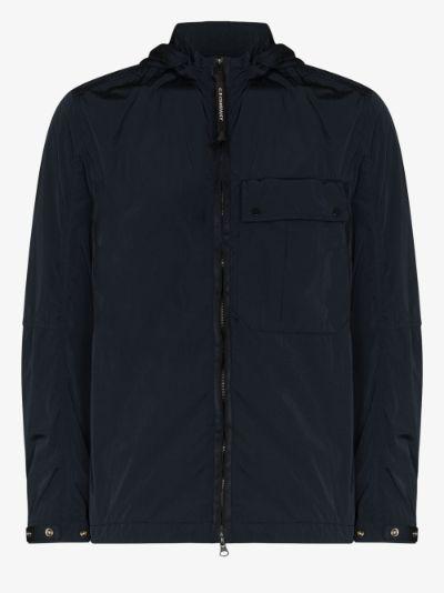 zip-up goggle hooded jacket