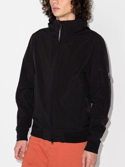 zip-up hooded jacket