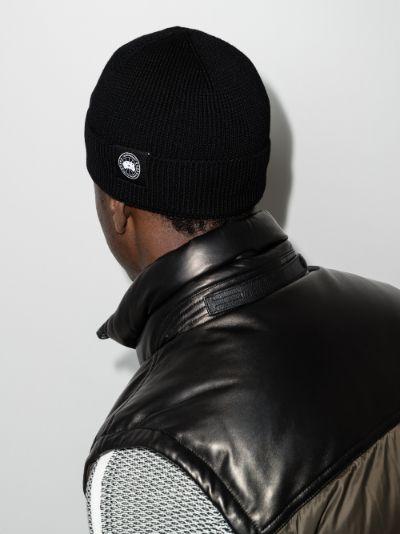 Black lightweight merino watch beanie hat