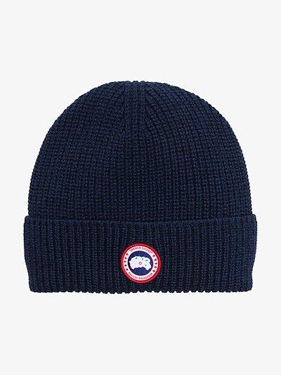 blue Arctic Disc wool beanie hat