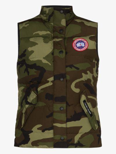 Freestyle camouflage print gilet