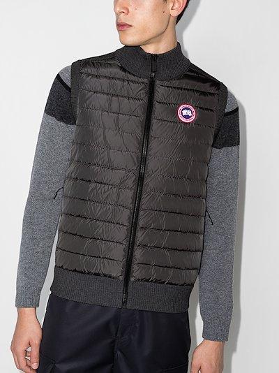 Grey Hybridge knit padded vest