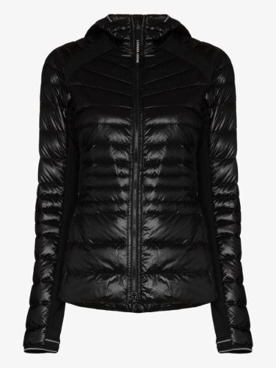Hybridge hooded puffer jacket