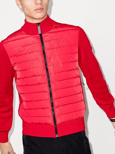 HyBridge quilted zip-up sweater