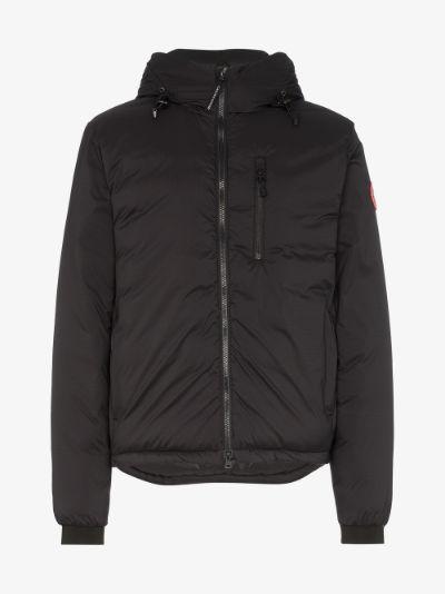 lodge logo patch jacket