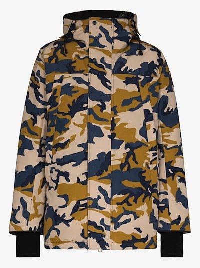 Sandford Camouflage Print padded Parka Coat