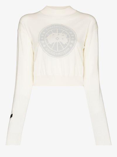 X Angel Chen intarsia logo sweater