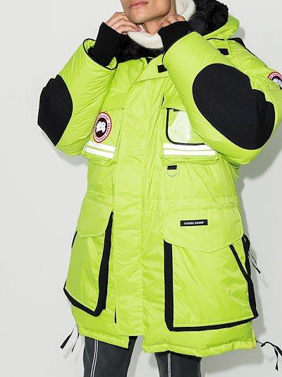 X Browns 50 green Northern Lights Snow Mantra parka coat