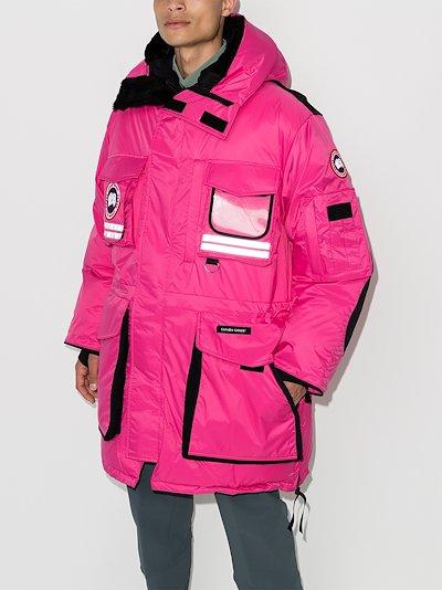 X Browns 50 pink Northern Lights Snow Mantra Parka Coat