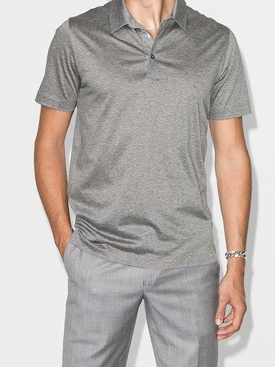 Lisle cotton polo shirt