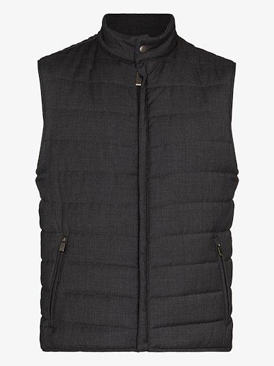 packable padded wool gilet