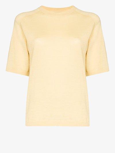 short sleeve alpaca wool top