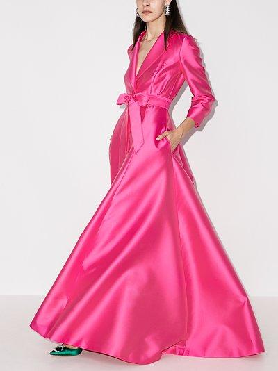 Belted blazer gown