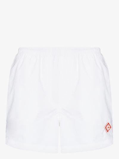 Court logo track shorts