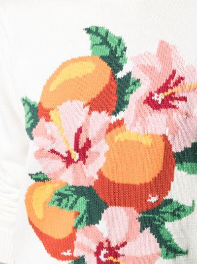 Kapalia Oranges Intarsia Sweater