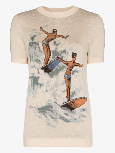 Les Garcons knit cotton T-shirt