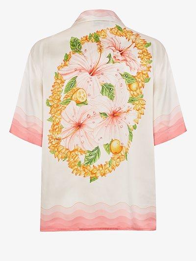 Nuit A Maui printed silk shirt