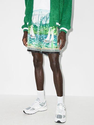 X Browns 50 Lake View silk shorts