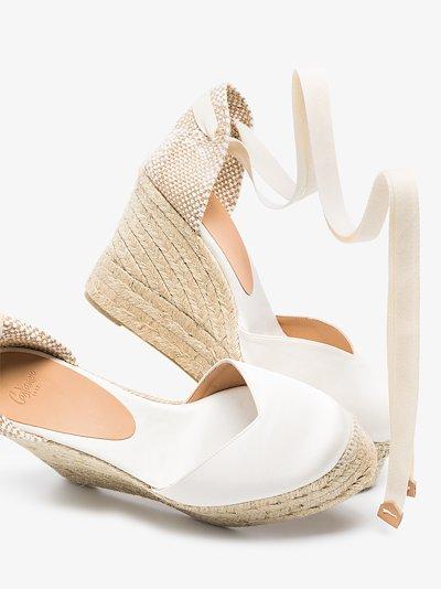 white Chiara 80 wedge espadrilles