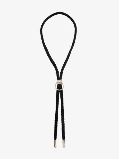 Sterling silver Bolo tie necklace