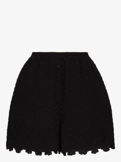 Kim high waist scalloped shorts
