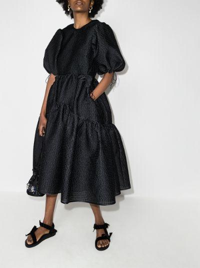 Lara tiered midi dress