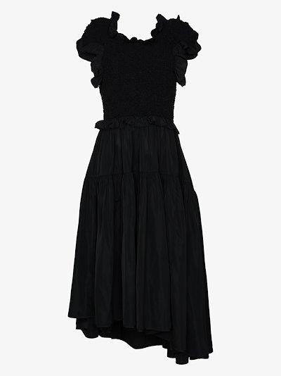 Liva smocked midi dress