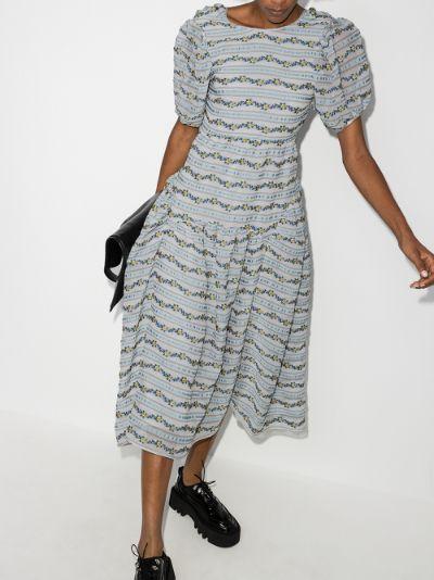 X Browns 50 Katrine floral embroidered midi dress
