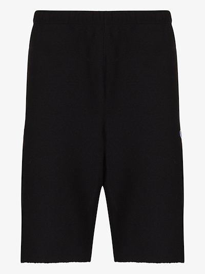 raw hem track shorts