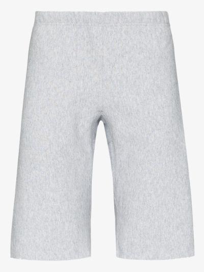 Reverse weave long shorts