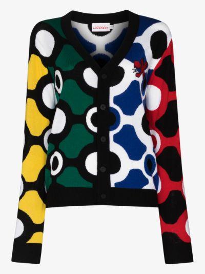Colour Block Merino Wool Cardigan