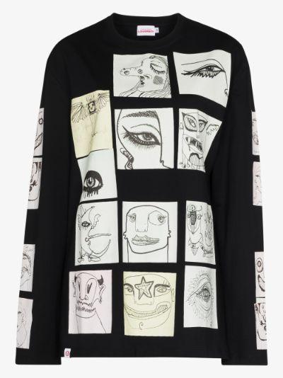 Digital print cotton T-shirt