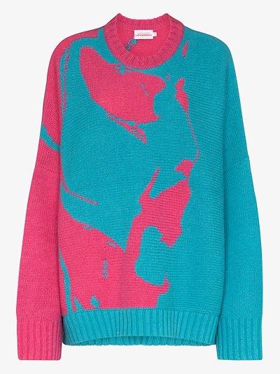 Face oversized wool sweater