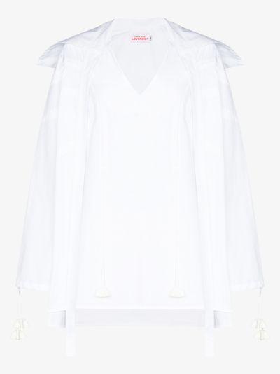 Glade Dwellers tasselled organic cotton shirt