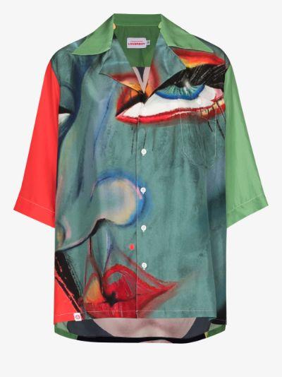 Hawaiian printed silk shirt