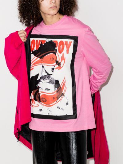 Portrait print sweatshirt