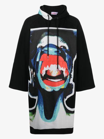 Scream graphic oversized hoodie