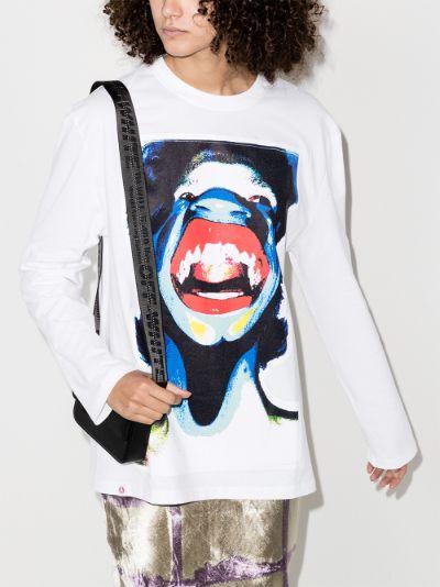Scream print sweatshirt