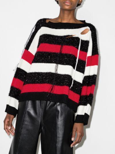 Slash Stripe Sweater