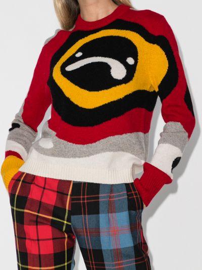 X Browns 50 Sad Echo intarsia sweater
