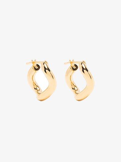 Gold-plated Wave hoop earrings