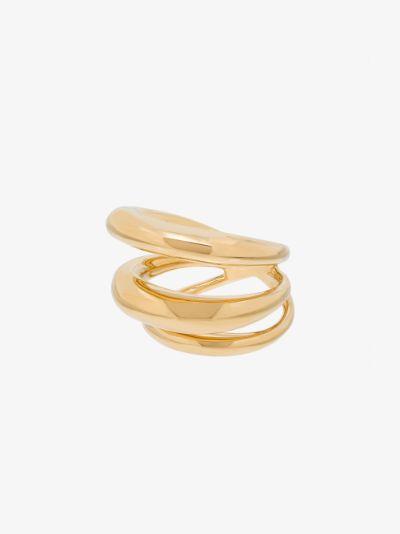 gold vermeil echo ring