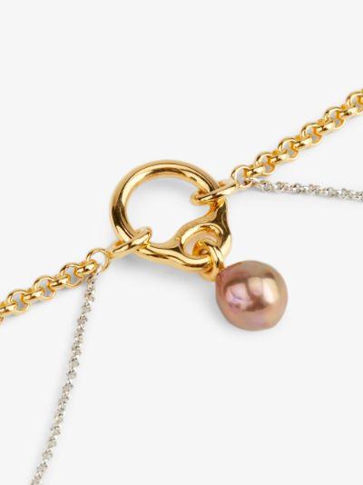 gold vermeil Eclipse pearl pendant necklace