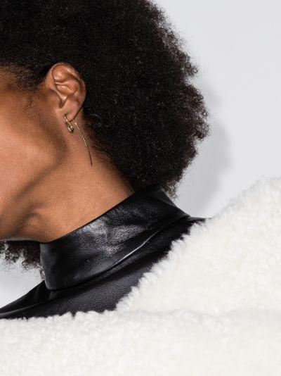 gold vermeil hook earring