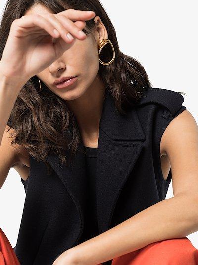 gold vermeil Maxi Round Trip hoop earrings