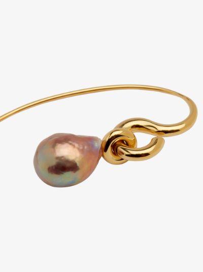 gold vermeil Pearl Hook earring