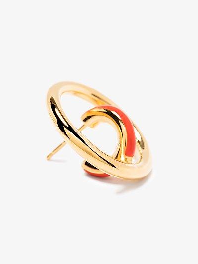 gold vermeil Saturn Blow hoop earrings